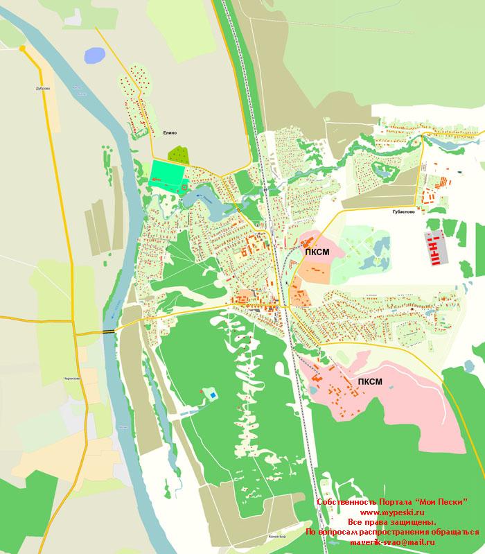 3) Карта поселения Пески и